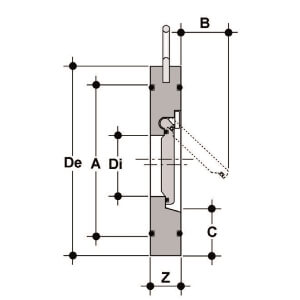 Межфланцевый обратный клапан ПВХ FIP CROV