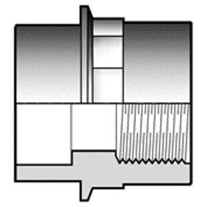 Двойной адаптер ПВХ с ВР 125 x 110 x 4