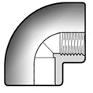 Уголок ПВХ с резьбой d32 x 1