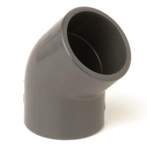 Отвод ПВХ d250 мм 45°