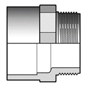 Двойной адаптер ПВХ с НР 110 x 90 x 3