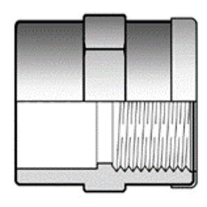 Муфта ПВХ клей - резьба с кольцом d 50 x 1 1/2