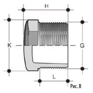 Заглушка ПВХ с наружной резьбой