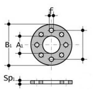 Прокладка фланцевая EPDM с отверстиями
