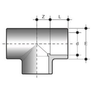 Тройник ПВХ 90°