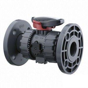 Кран ПВХ d 40 мм FPM фланцевый