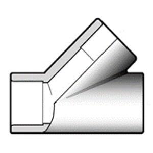 Тройник ПВХ d90 мм 45 градусов