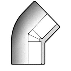 Отвод ПВХ d200 мм 45 градусов
