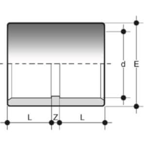 Муфта ПВХ 16 мм клеевая FIP Италия - 3
