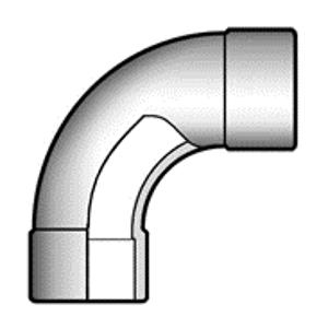 Отвод ПВХ d32 мм плавный